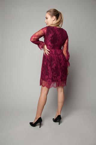 Платье вечернее из гипюра с кружевами оптом