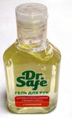 DR.SAFE гель для рук антибактериальный с заживляющим компонентом Бисаболол, 50 мл 1/20
