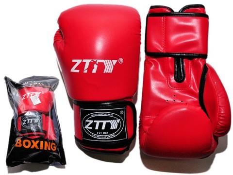 Перчатки боксёрские 12 oz: ZTQ004 Цвет - красный.
