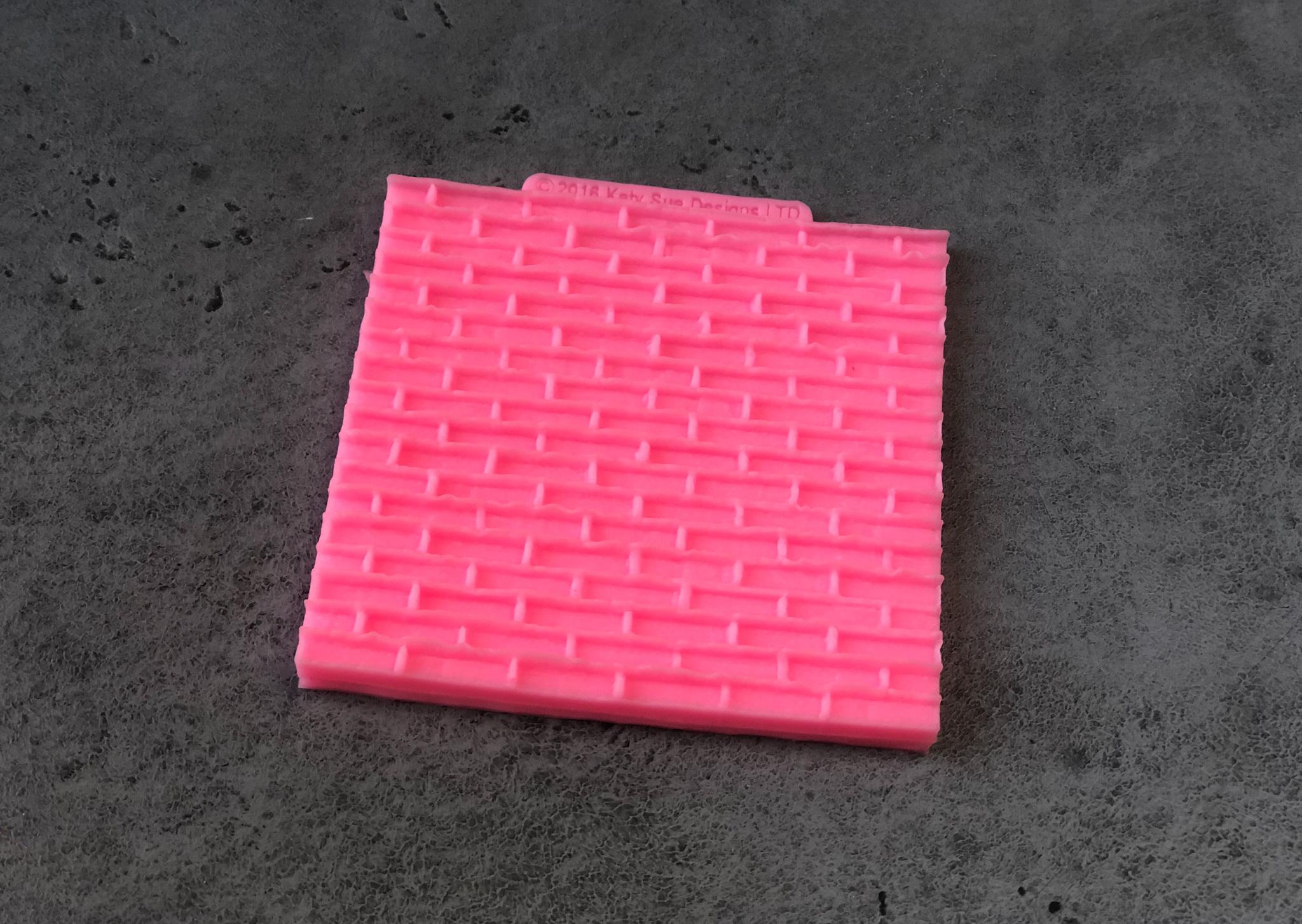 Силиконовая форма/молд «Кирпичная стена», 10×10 см