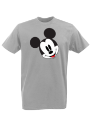 Футболка с принтом Микки Маус (Mickey Mouse) серая 002