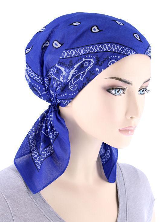 Синяя бандана на голову фото