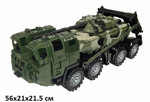 Тягач военный Щит с танком (Нордпласт) арт.258/1