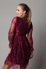 Платье вечернее из гипюра с кружевами Nadya
