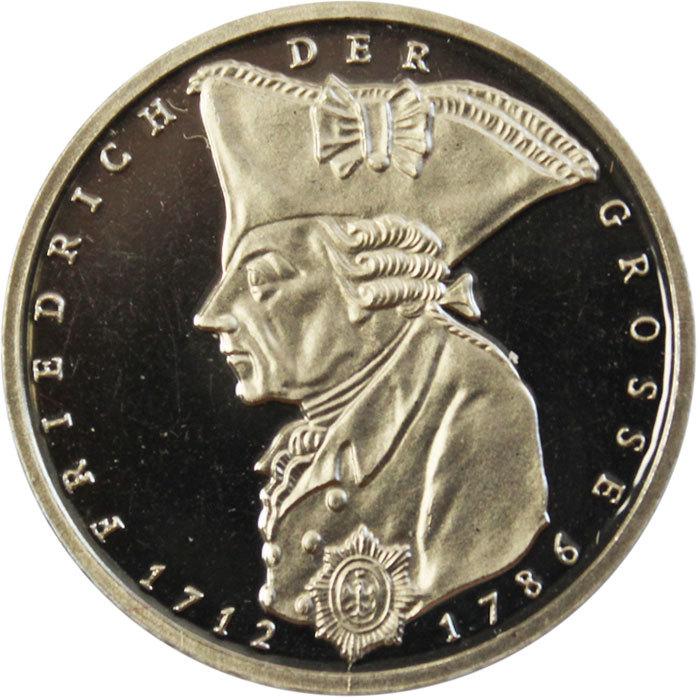 5 марок. 200 лет со дня смерти Фридриха II Великого. (F) Германия. Медноникель. 1986 г. PROOF