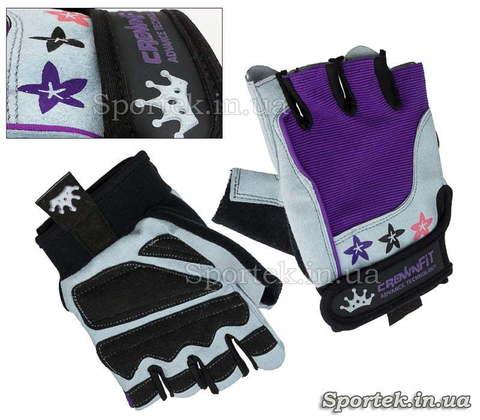 Перчатки с открытыми пальцами CrownFit
