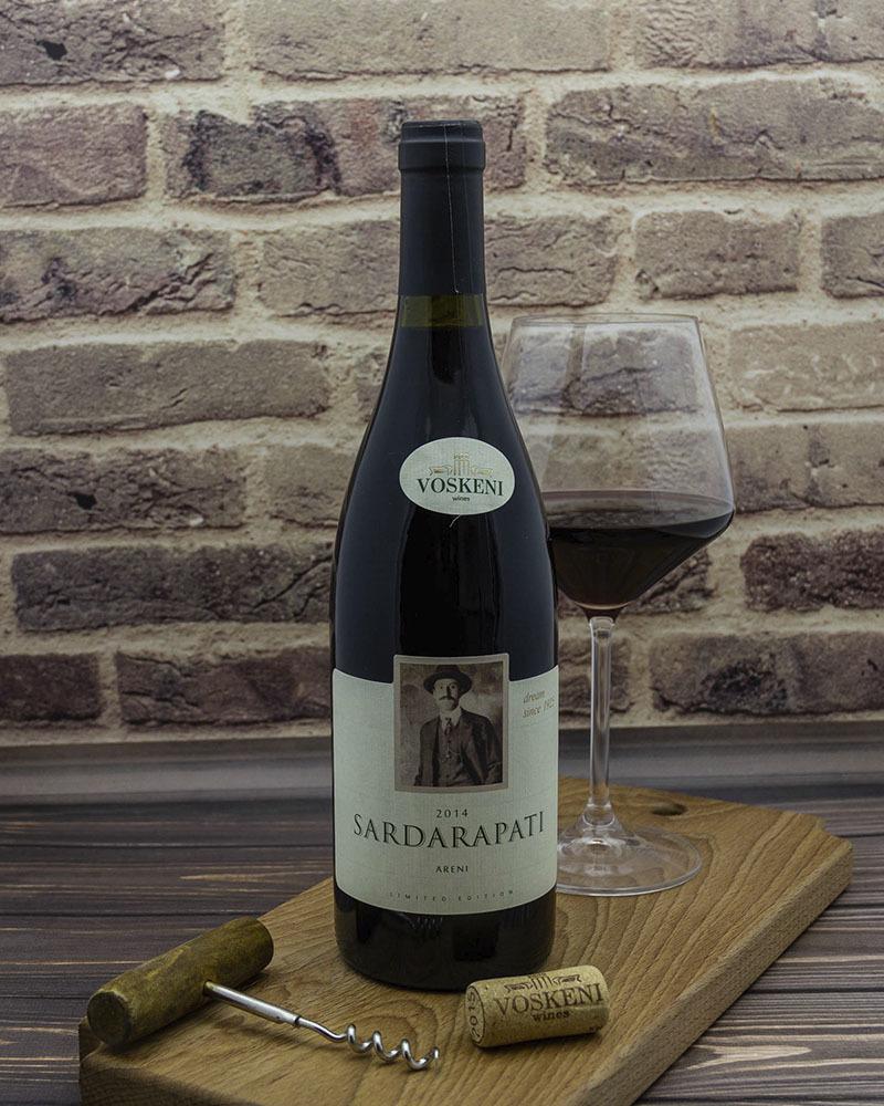 Вино Voskeni Сардарпати Арени Красное Сухое 2014 г.у. 13,5% 0,75 л.