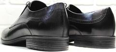 Дерби туфли мужские демисезонные Ikoc 3416-1 Black Leather.