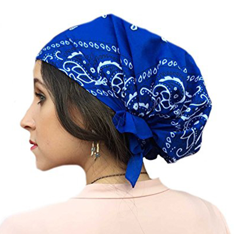 Синяя бандана косынка фото