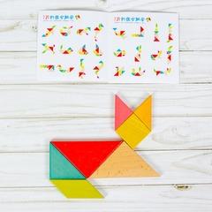 Развивающая игра Танграм в пенале разноцветный