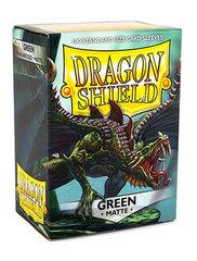 Dragon Shield - Зеленые матовые протекторы 100 штук