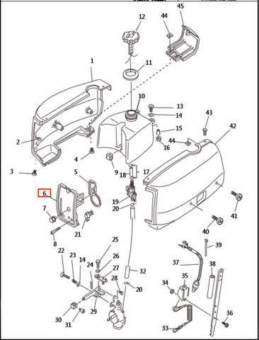 Панель управления  для лодочного мотора T2,5 SEA-PRO (1-6)