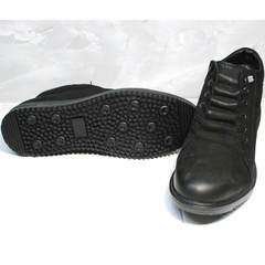 Зимние ботинки с мехом мужские Luciano Bellini 71783 Black.