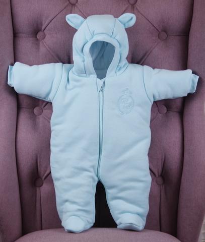 Демисезонный комбинезон утепленный для новорожденных ВВ мятный