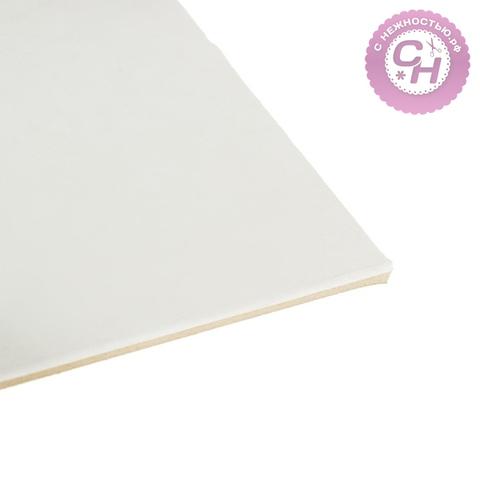 Переплетный картон для творчества, 2.5 мм, 30*30 см, 1500 г/м², белый, 1 шт.