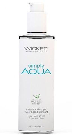 Легкий лубрикант на водной основе Wicked Simply AQUA - 120 мл.