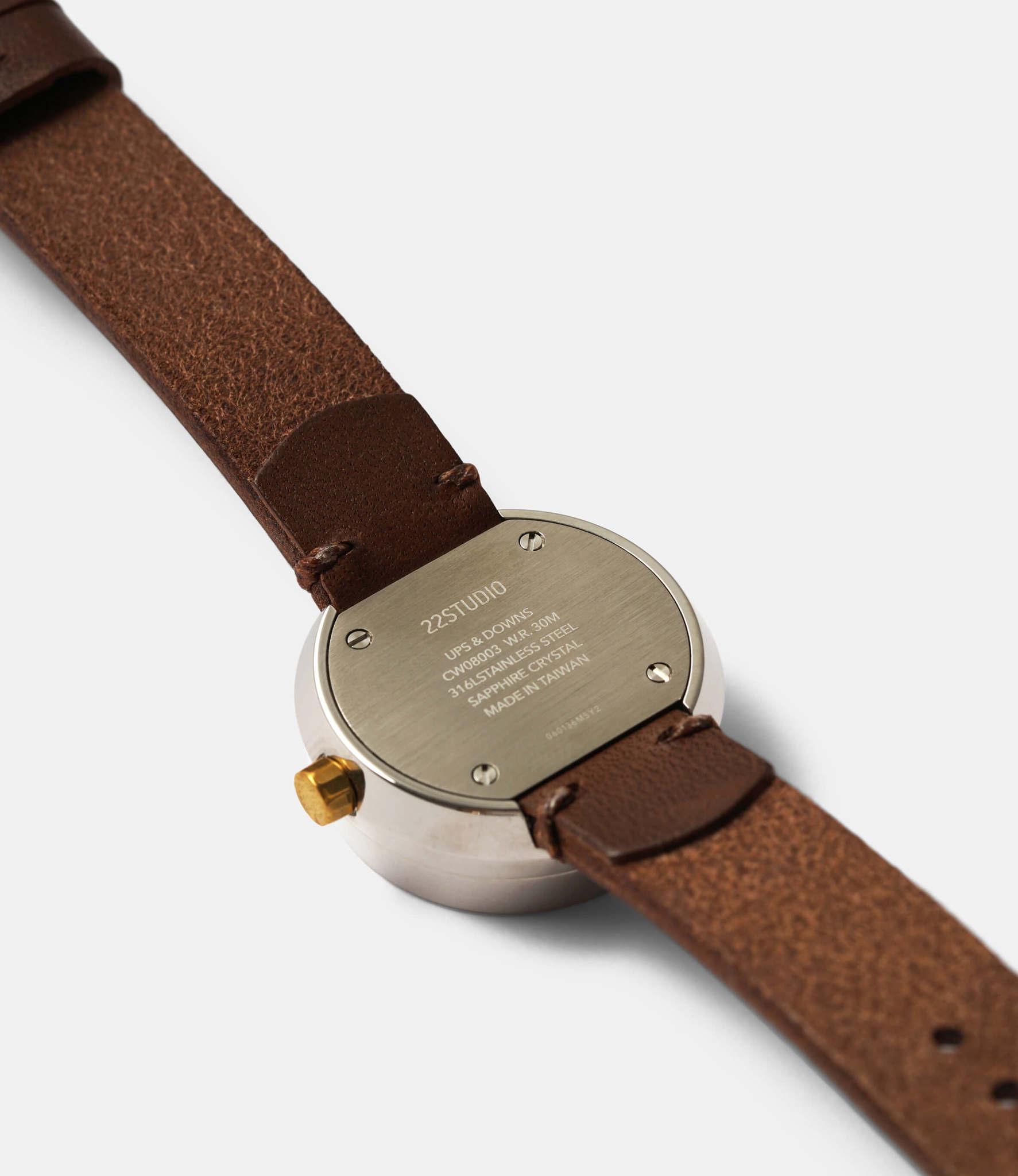 22 Studio Ups & Downs 30mm Mocha — часы из бетона