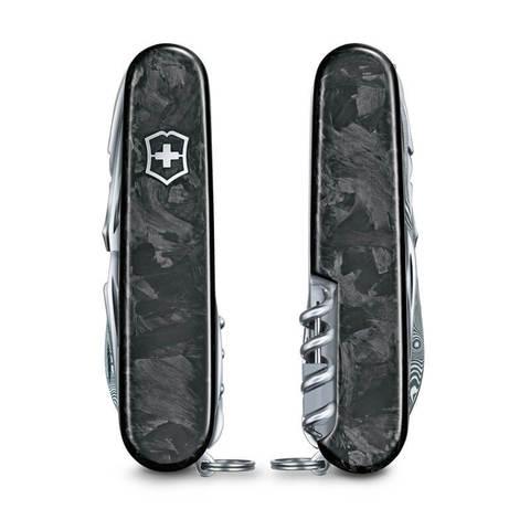 Нож Victorinox SwissChamp Damast LE 2021, 91 мм, 29 функций, чёрный