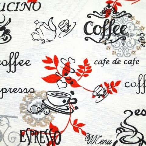 Уличная ткань Красная Coffe. Ширина - 180 см. Арт. duck_5132_4