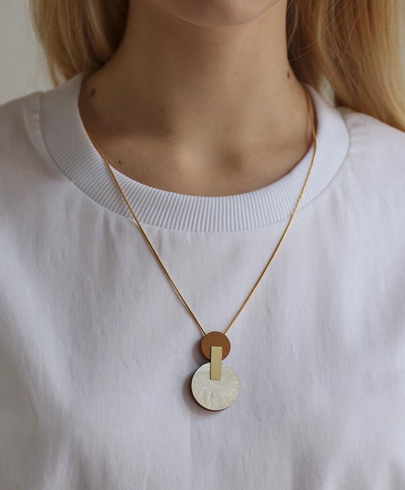 Подвеска Celeste I Necklace Mother of Pearl