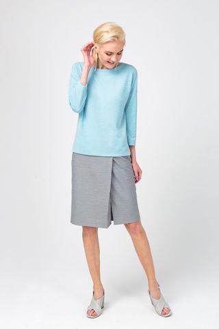 Фото серая юбка на запах прямого силуэта - Юбка Б118-750 (1)