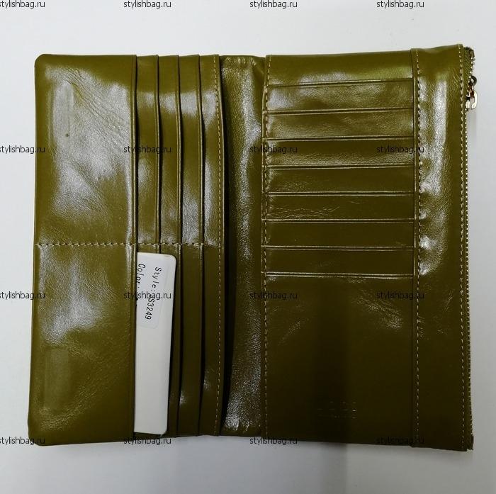 Женский кошелек оливкового цвета на магнитах JCCS j-3249