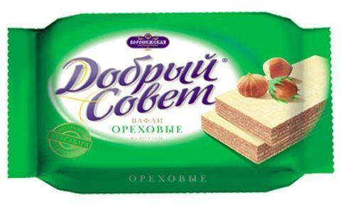 Вафли Добрый совет Ореховые на фрукт. 73г