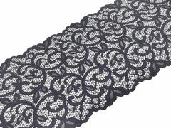 Эластичное кружево, ОПТ, черное, 20 см, (Арт: EК-2017), м