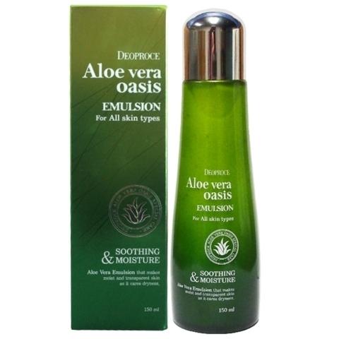 Deoproce Aloe Vera Oasis Emulsion эмульсия для лица с экстрактом алое вера