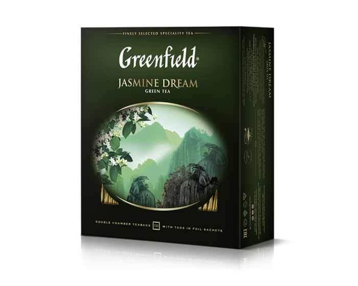 Чай зеленый в пакетиках Greenfield Jasmin Dream, 100 пак/уп