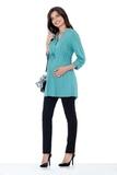 Блузка для беременных 01385 серый