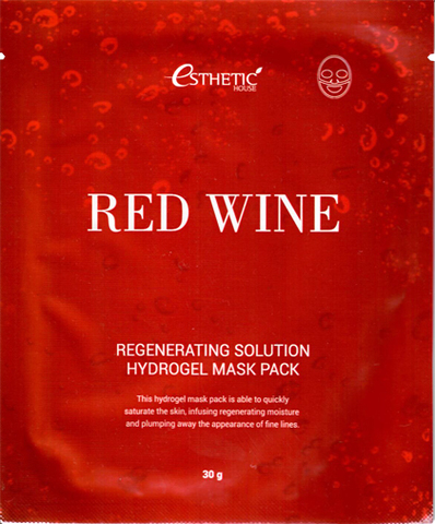 [ESTHETIC HOUSE] Гидрогел. маска д/лица RED WINE REGENERATING SOLUTION HYDROGEL MASK 1шт