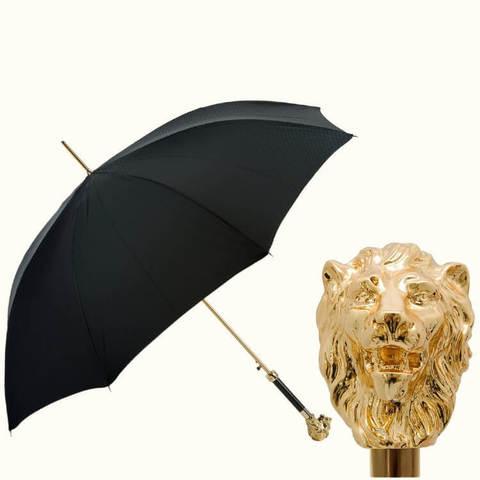 Зонт-трость золотой лев в магазине Зонтофф