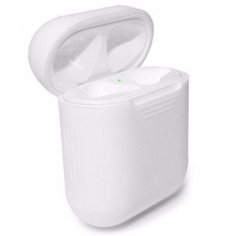 Чехол на AirPods (белый) силиконовый