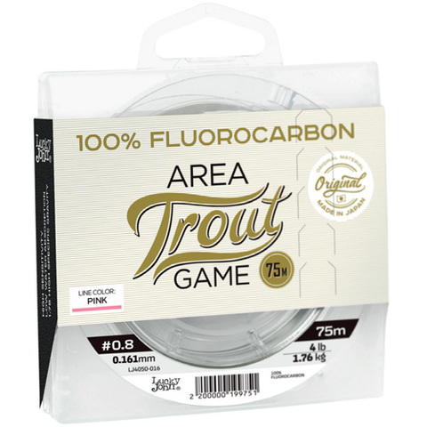 Леска LUCKY JOHN Area Trout Game Fluorocarbon Pink 75 м – 0,161 мм