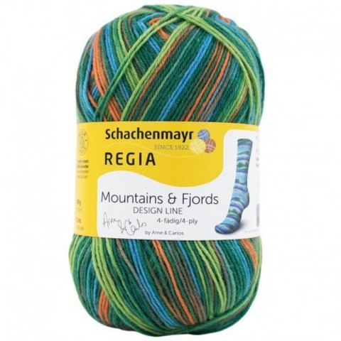 купить носочную пряжу Regia Design Line Mountains and Fjords Color 7033