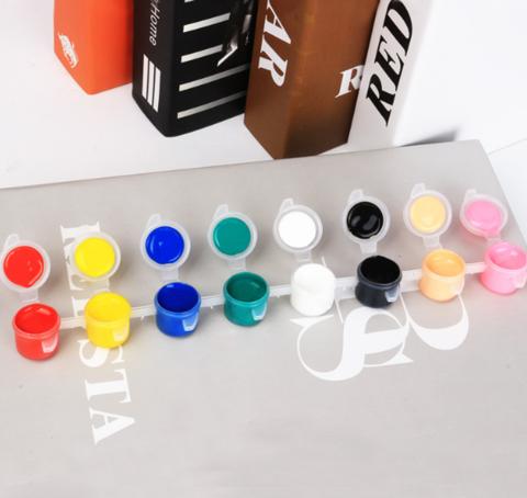061-1537 Акриловая краска 8 цветов (3мл)+кисть