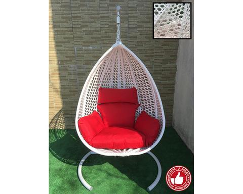 Подвесное кресло Сакала Cross белое