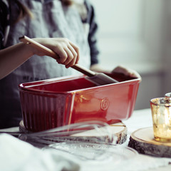 Форма Moule Cake для выпечки Emile Henry (крем)