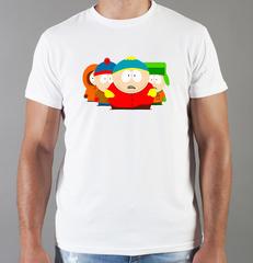 Футболка с принтом мультфильма Южный парк (South Park) белая 006