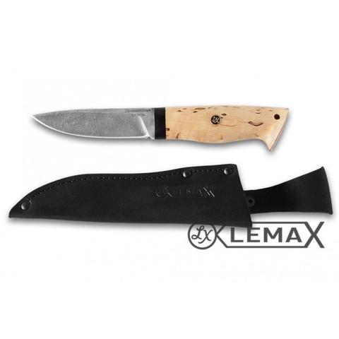 Нож Засапожный, дамаск, карельская берёза