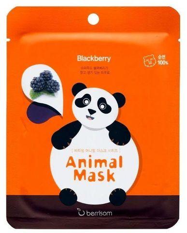 BERRISOM Animal mask series - Panda Маска экстрактом ежевики