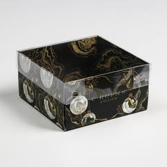 Коробка для кондитерских изделий с PVC крышкой Gold, 12 х 6 х 11,5 см