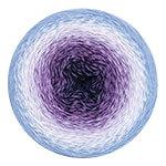 YarnArt Flowers 264 фиолет/бел/голубой