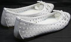 Балетки из мягкой кожи Vasari Gloria 19Y38860-37 White.