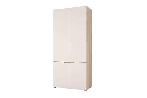 Шкаф двухстворчатый Анталия Горизонт дуб сонома, белый софт