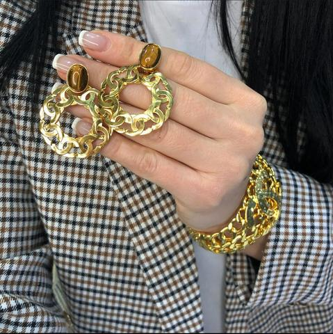 Браслет и клипсы Chanel