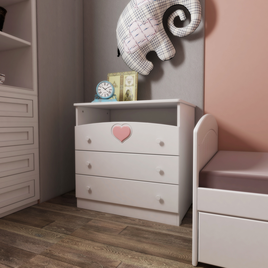 Комод Феалта-baby Мечта Белый