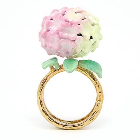 Кольцо Гортензия (розовая)