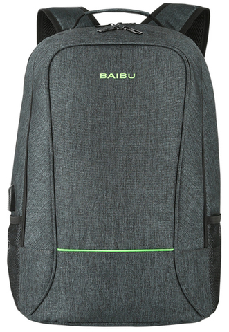 Рюкзак BAIBU 1915 USB Темно-зеленый